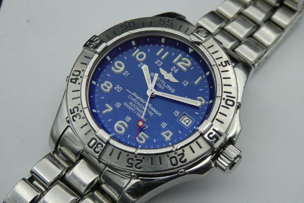 Breitling Superocean A17360 blue dial