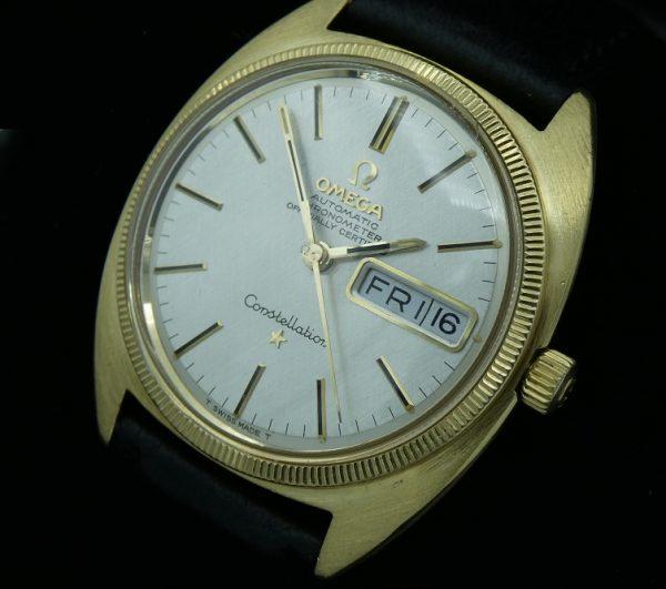 Vintage Omega Constellation Automatic 18k Gold 168.029